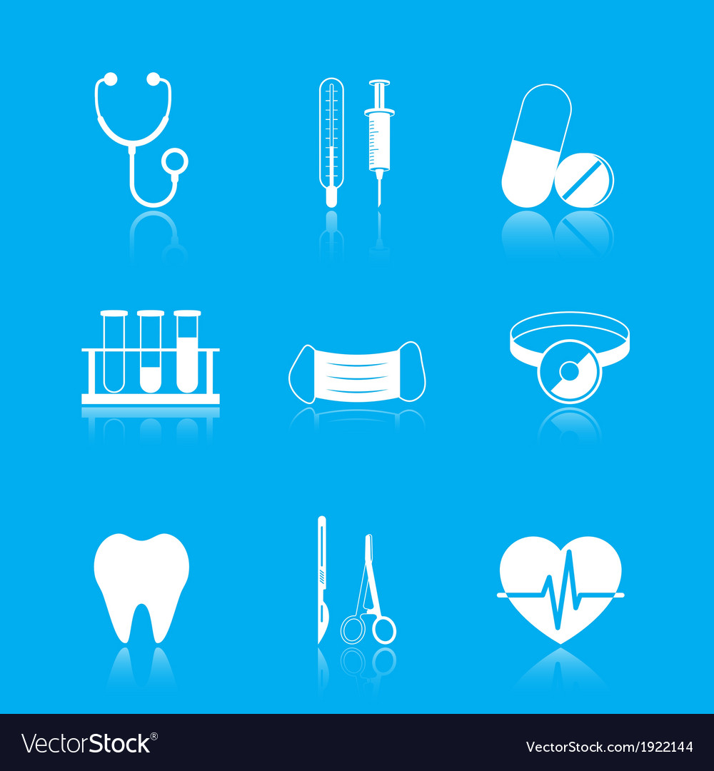Health care tools icons set vector | Price: 1 Credit (USD $1)