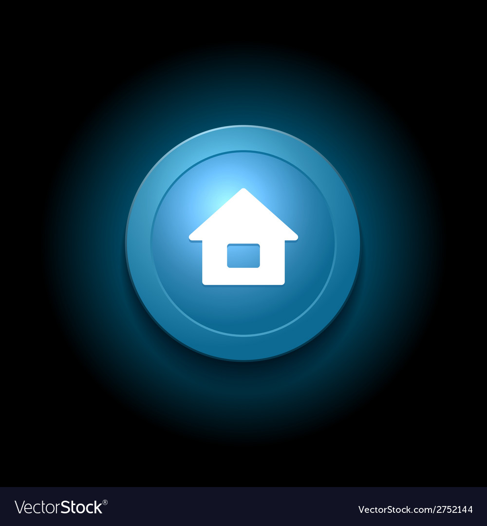 Home button modern glossy blue design vector | Price: 1 Credit (USD $1)