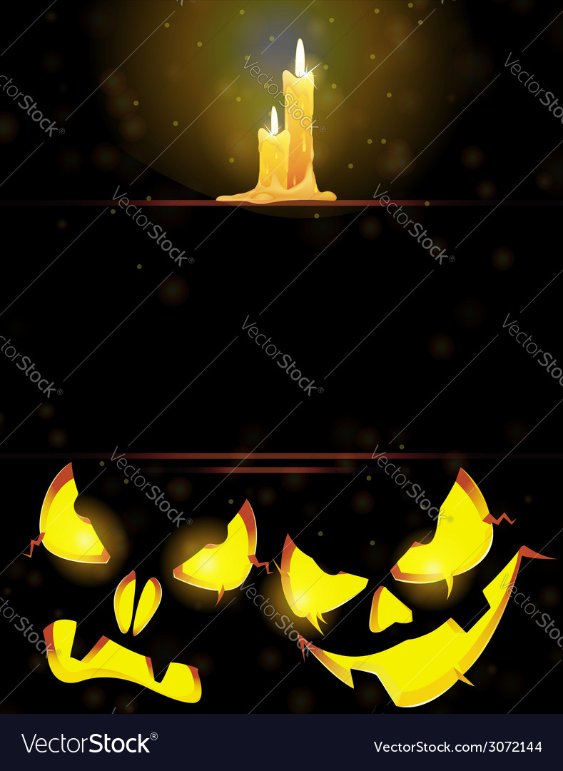 Jack o lanterns and burning candles vector | Price: 1 Credit (USD $1)