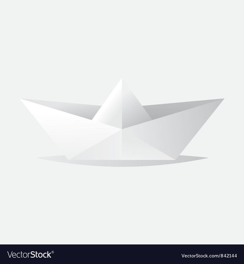 Origami boat vector | Price: 1 Credit (USD $1)