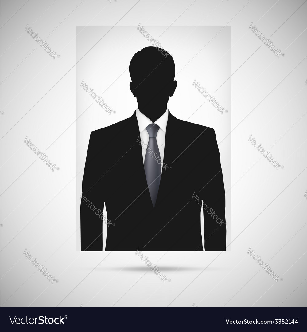 Profile picture whith tie unknown person vector | Price: 1 Credit (USD $1)