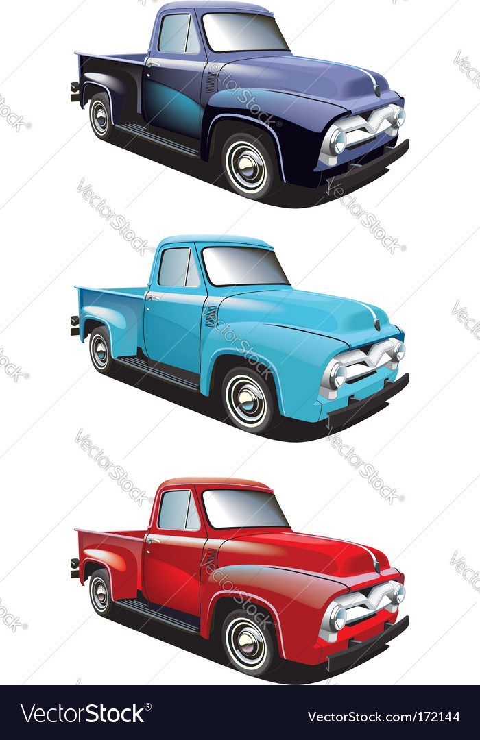 Retro style pickup vector | Price: 3 Credit (USD $3)
