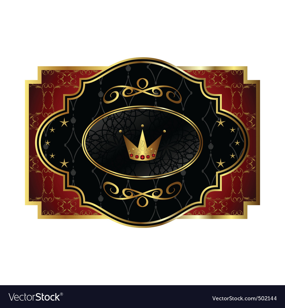 Royal label vector | Price: 1 Credit (USD $1)