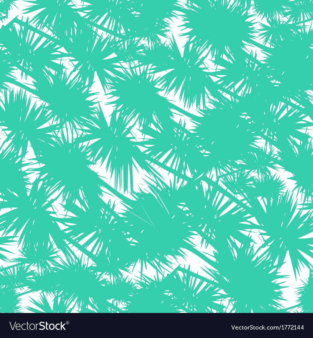 Seamless pattern with stylized palm leaves vector | Price: 1 Credit (USD $1)