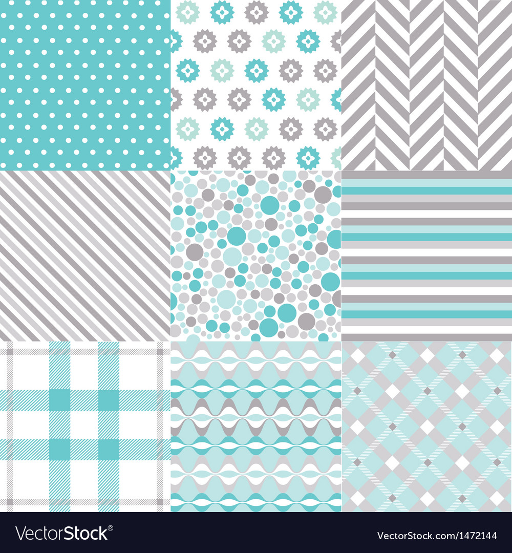 Seamless patterns with fabric texture vector | Price: 1 Credit (USD $1)