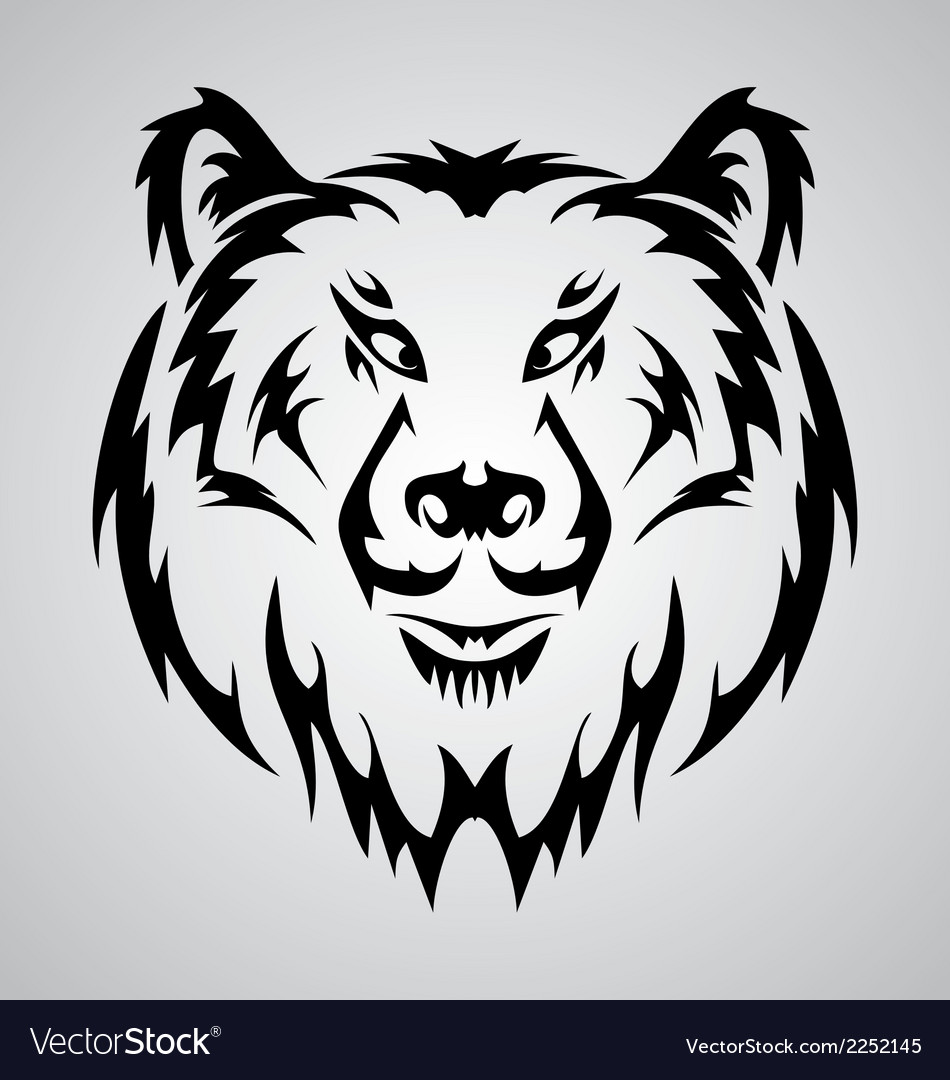 Bear face tattoo vector | Price: 1 Credit (USD $1)