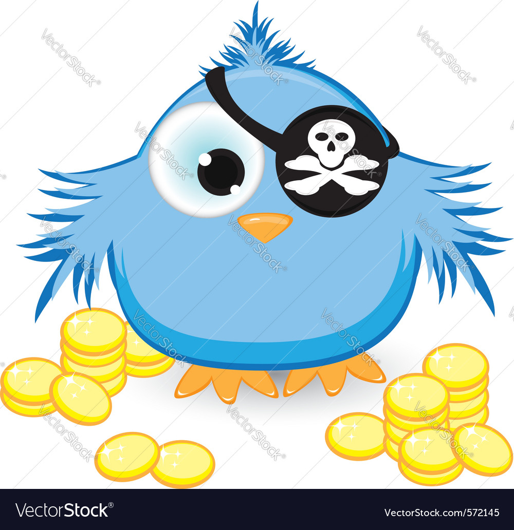 Cartoon pirate sparrow vector | Price: 1 Credit (USD $1)