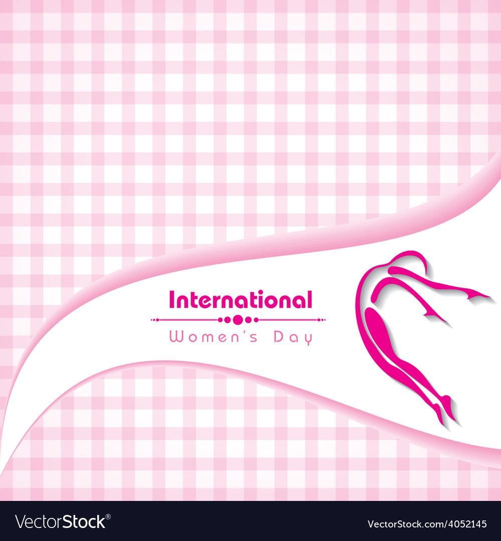 Creative international woman day greeting vector   Price: 1 Credit (USD $1)