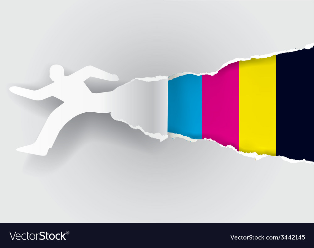 Fast printing paper concept vector   Price: 1 Credit (USD $1)