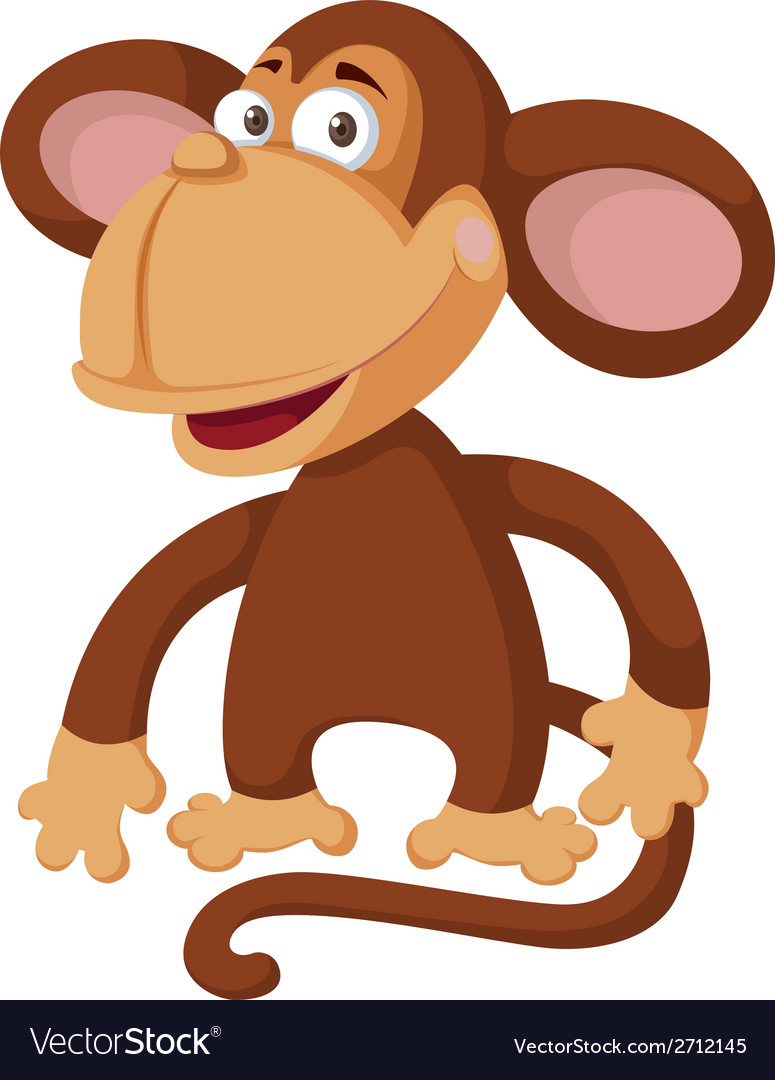 Funny monkey vector | Price: 1 Credit (USD $1)