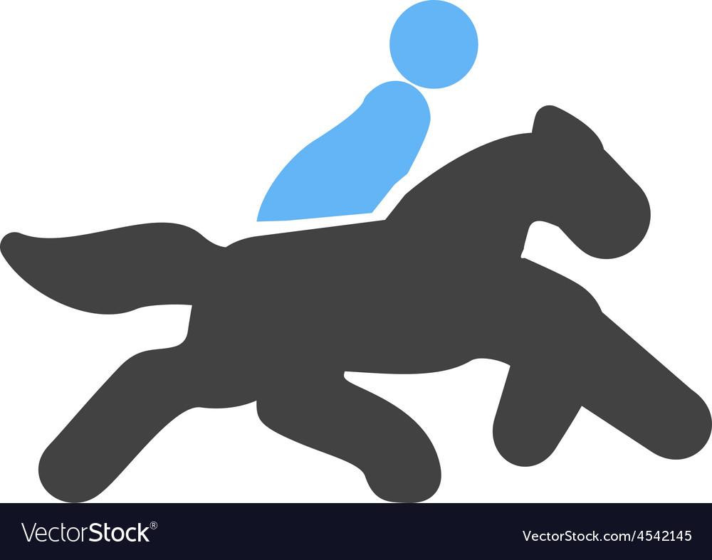 Horse rider vector | Price: 1 Credit (USD $1)