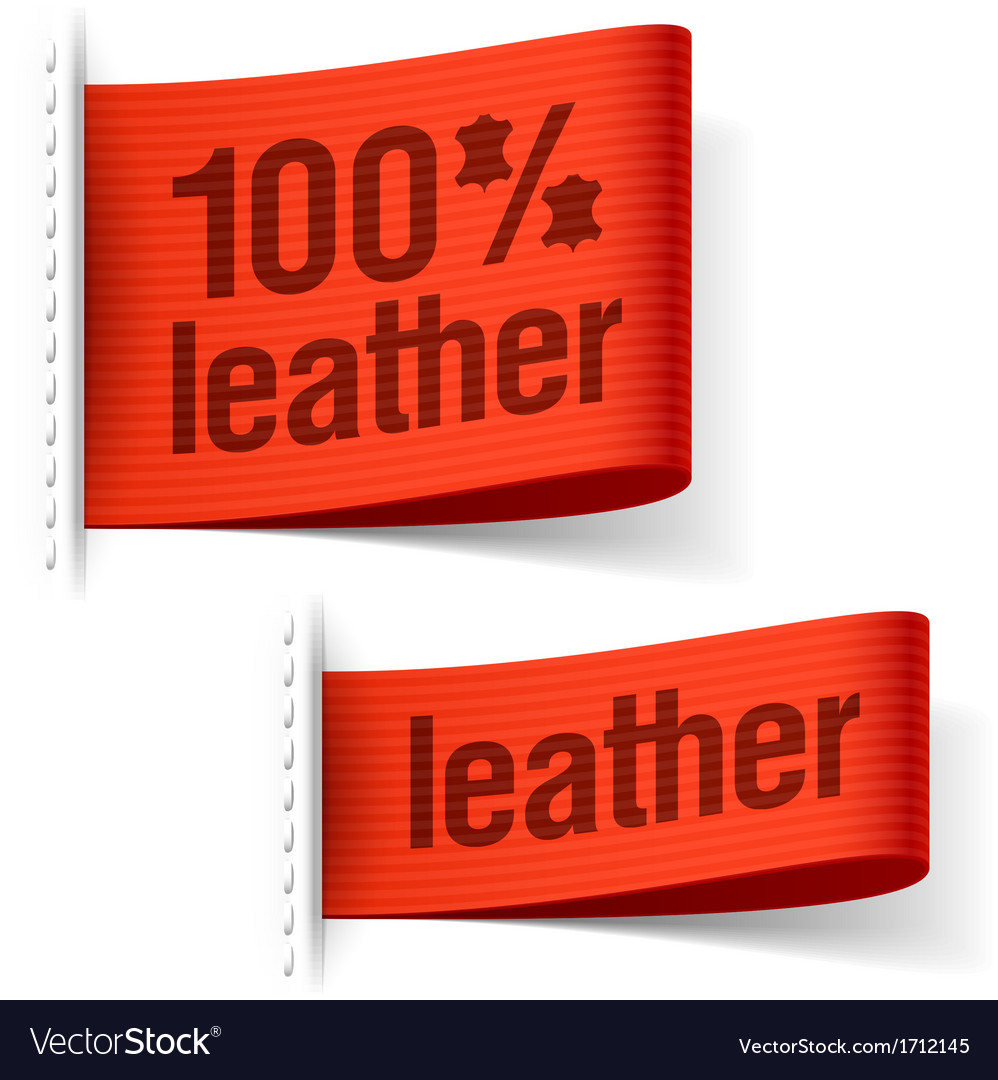 Leather product clothing labels vector | Price: 1 Credit (USD $1)