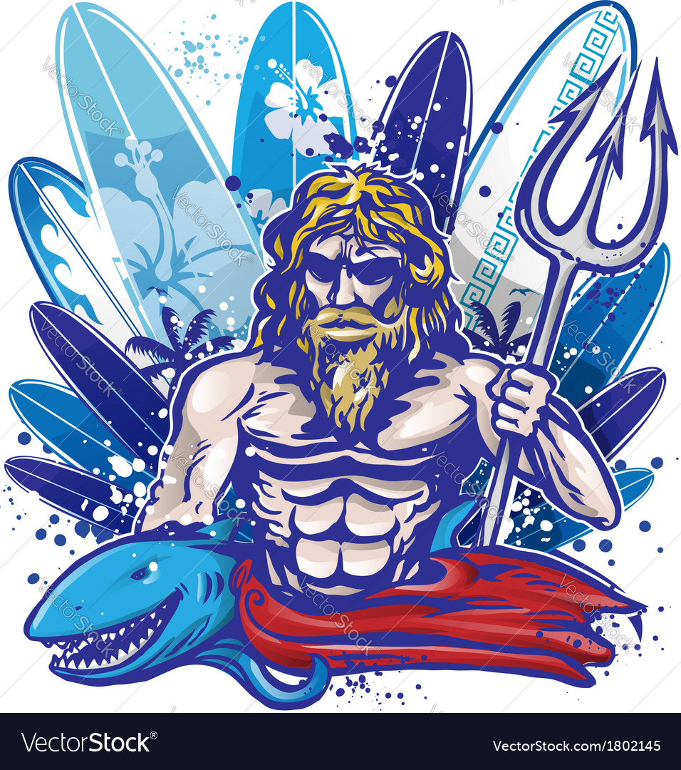 Poseidon surf vector | Price: 3 Credit (USD $3)