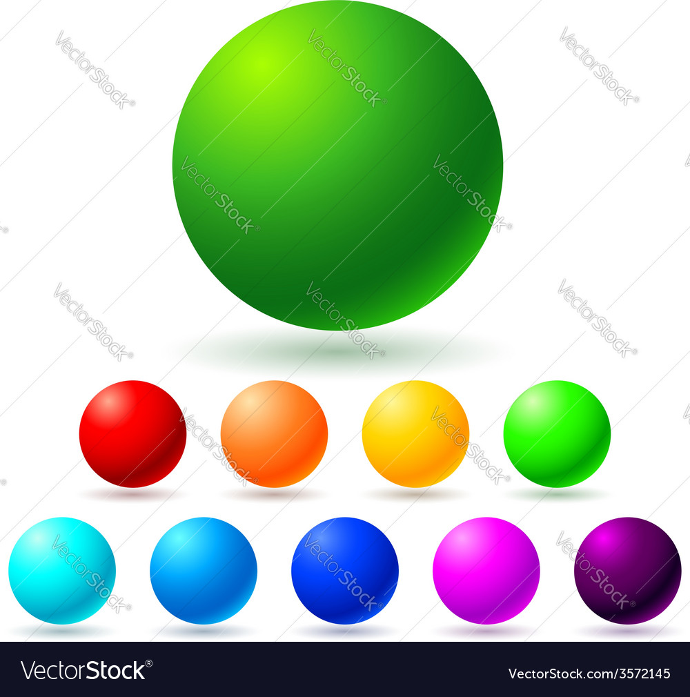 Set of brignt colored balls vector | Price: 1 Credit (USD $1)