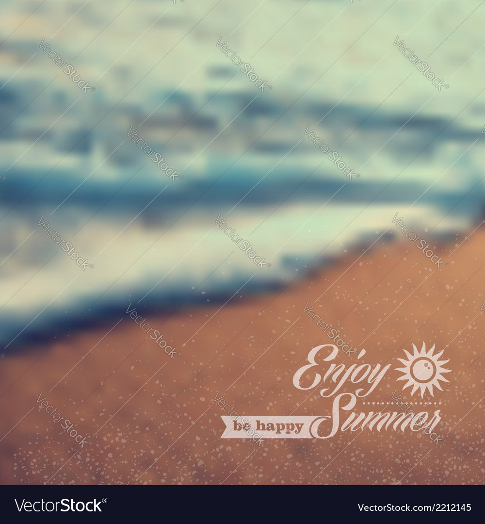 Summer beach vintage blurred background vector | Price: 1 Credit (USD $1)