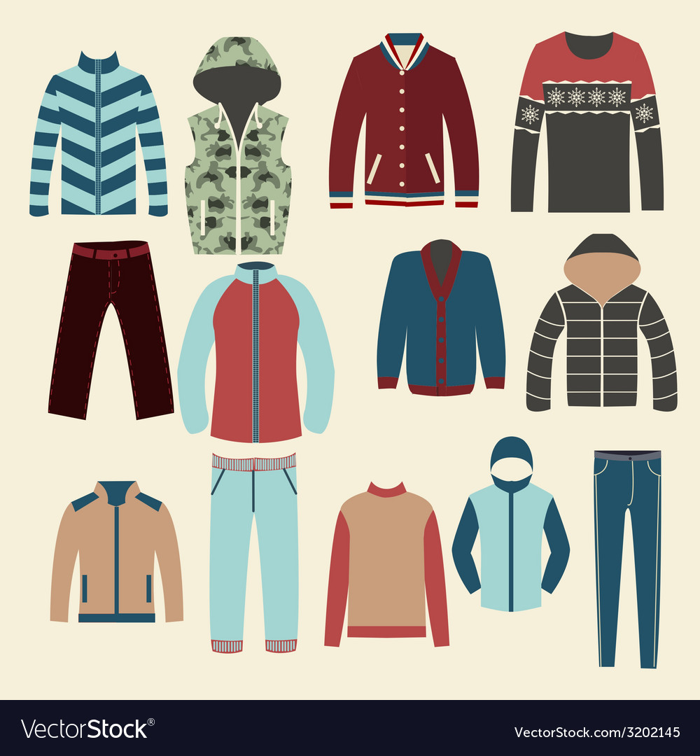 Winter clothes group of objects- vector | Price: 1 Credit (USD $1)