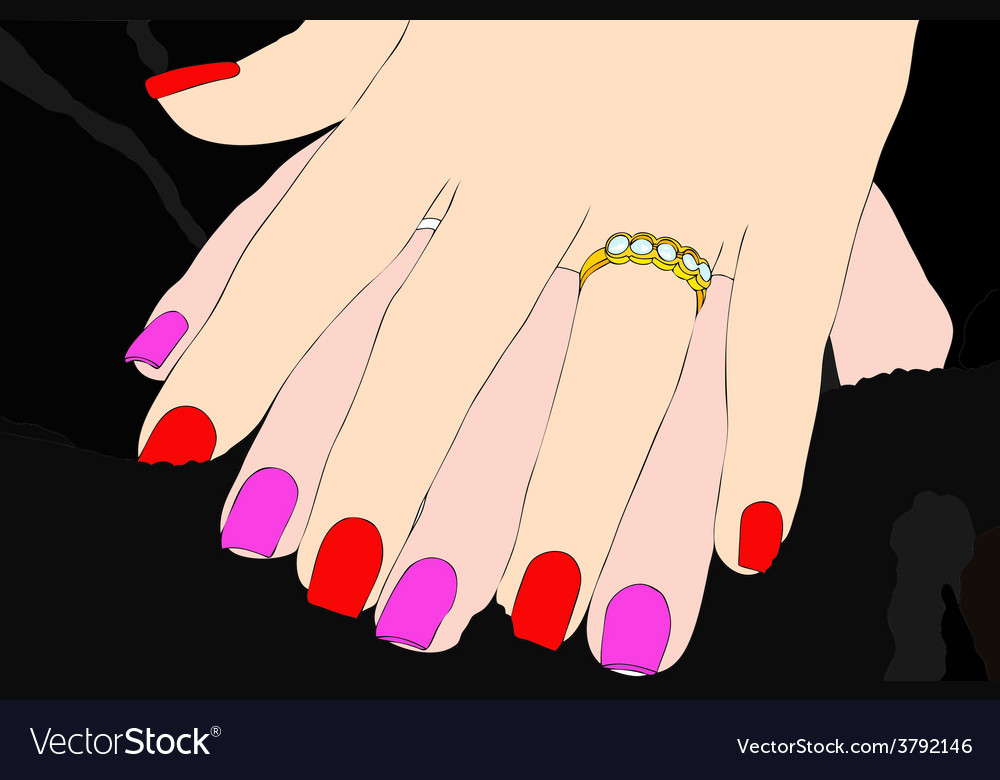 A gesture of affection between two women vector | Price: 1 Credit (USD $1)