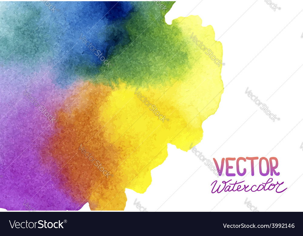 Absctract background with watercolor splash vector | Price: 1 Credit (USD $1)
