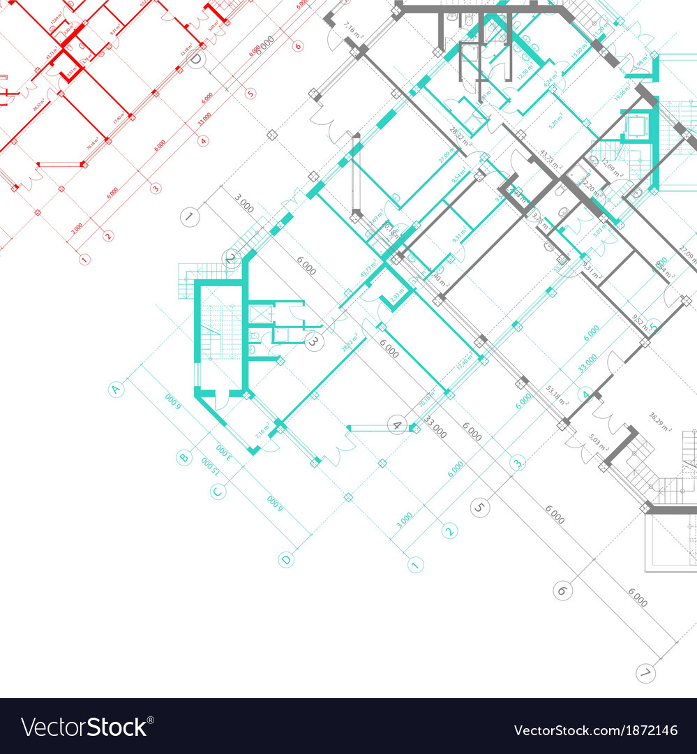 Architectural background with plans vector | Price: 1 Credit (USD $1)