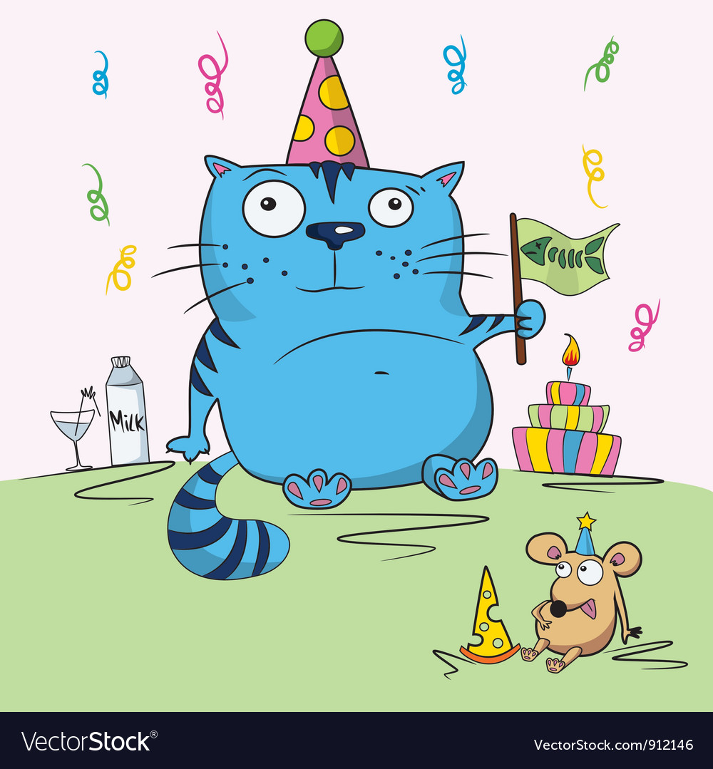 Birthday card funny vector | Price: 3 Credit (USD $3)