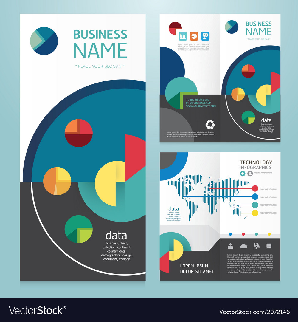 Business brochure modern design template vector | Price: 1 Credit (USD $1)