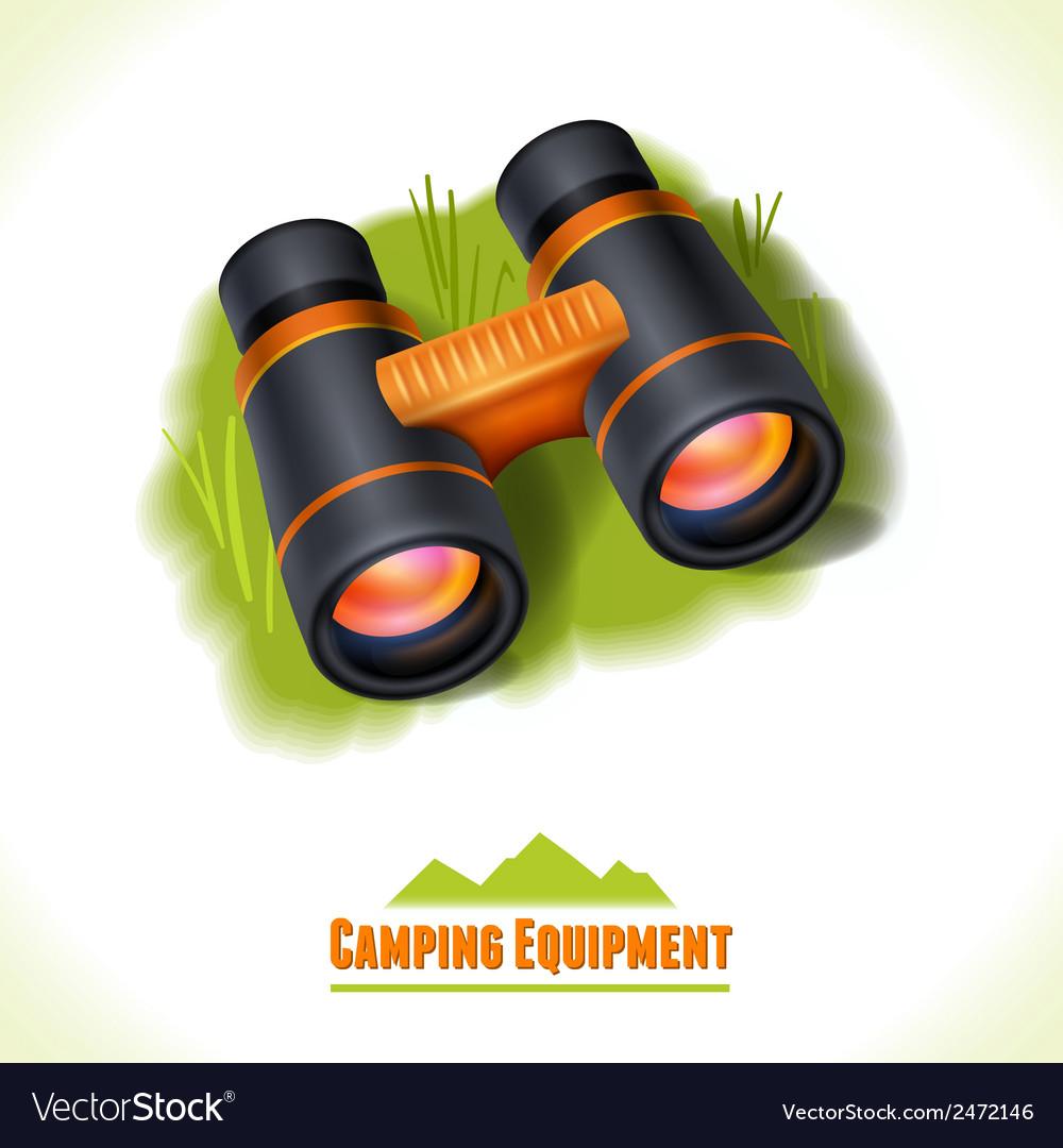 Camping symbol binocular vector | Price: 1 Credit (USD $1)