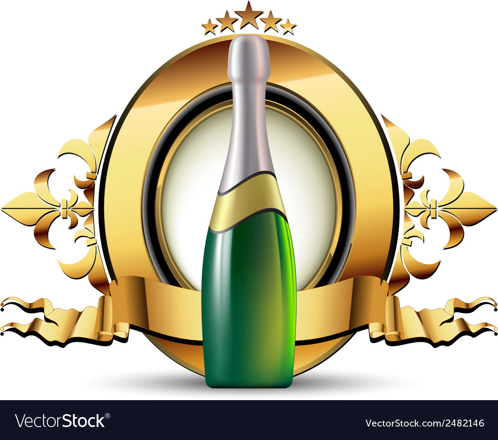 Champagne vector | Price: 3 Credit (USD $3)