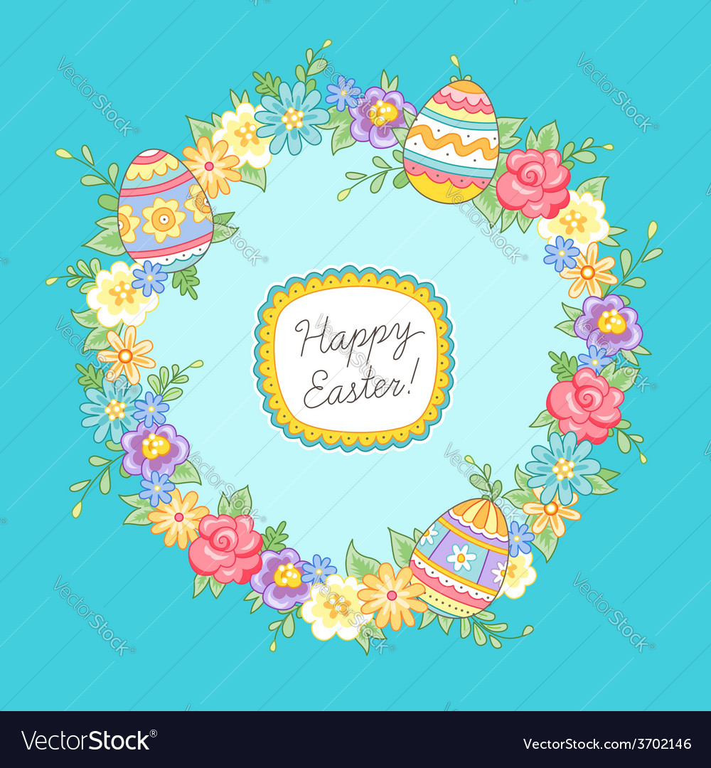 Easter wreath vector | Price: 1 Credit (USD $1)