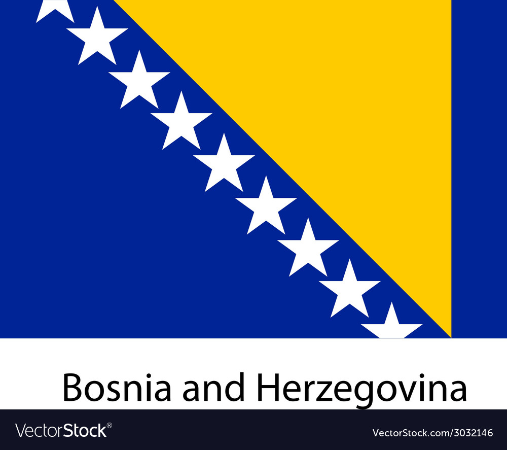 Flag of the country bosnia and herzegovina vector | Price: 1 Credit (USD $1)