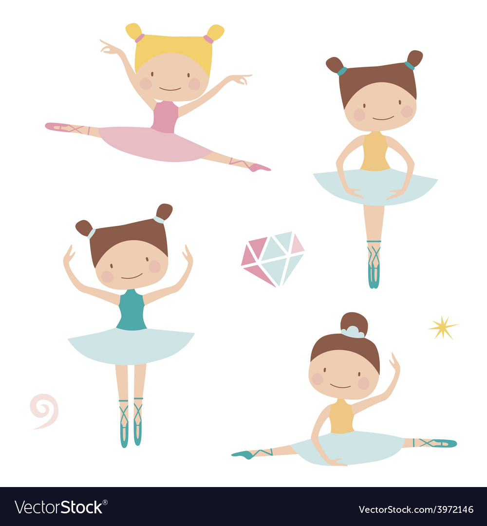 Lovely ballerinas vector | Price: 1 Credit (USD $1)