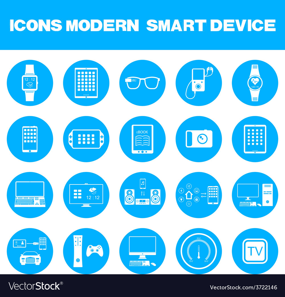 Modern smart devices vector | Price: 1 Credit (USD $1)