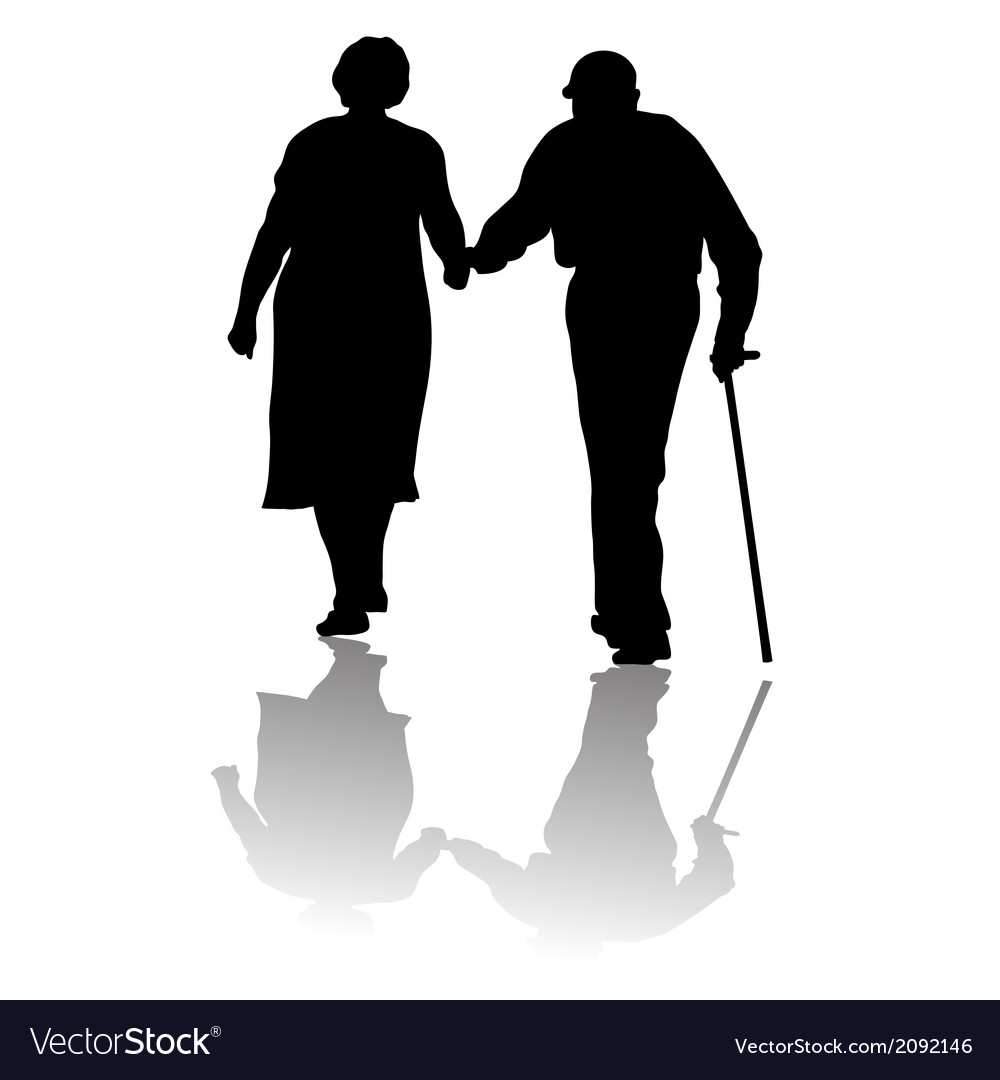 Old people vector | Price: 1 Credit (USD $1)