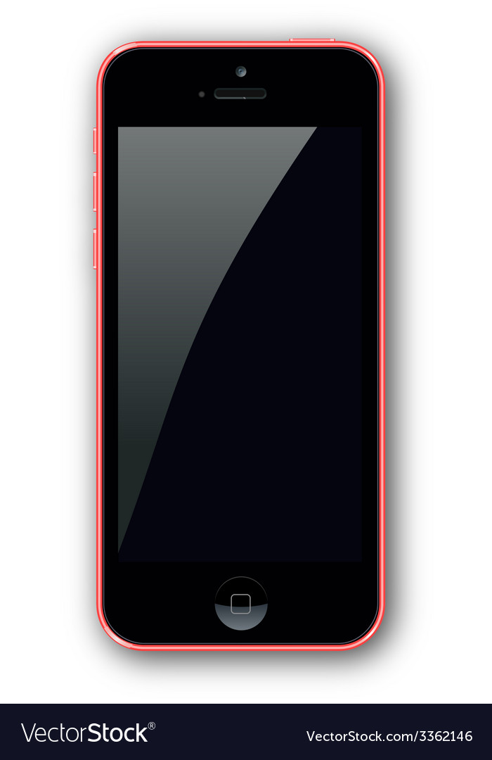 Red iphone vector | Price: 1 Credit (USD $1)