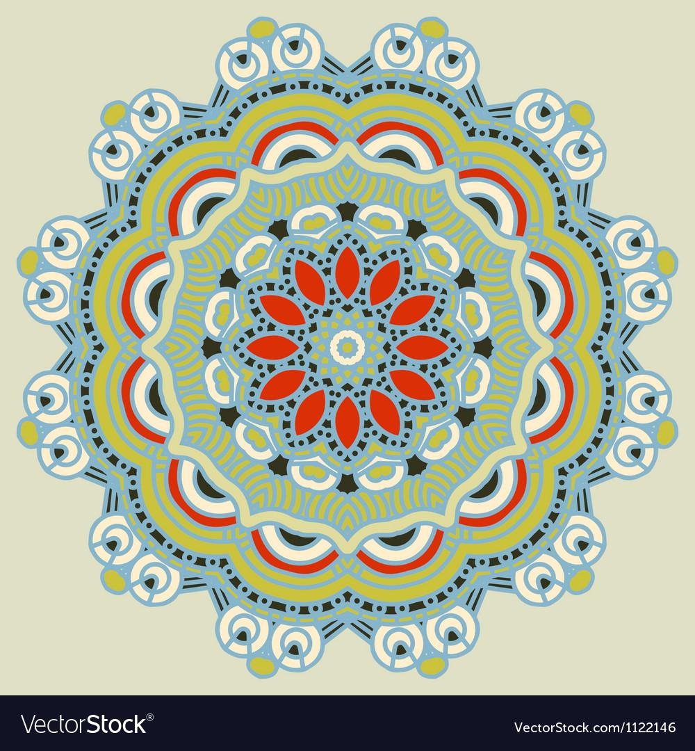 Round decorative design element vector | Price: 1 Credit (USD $1)