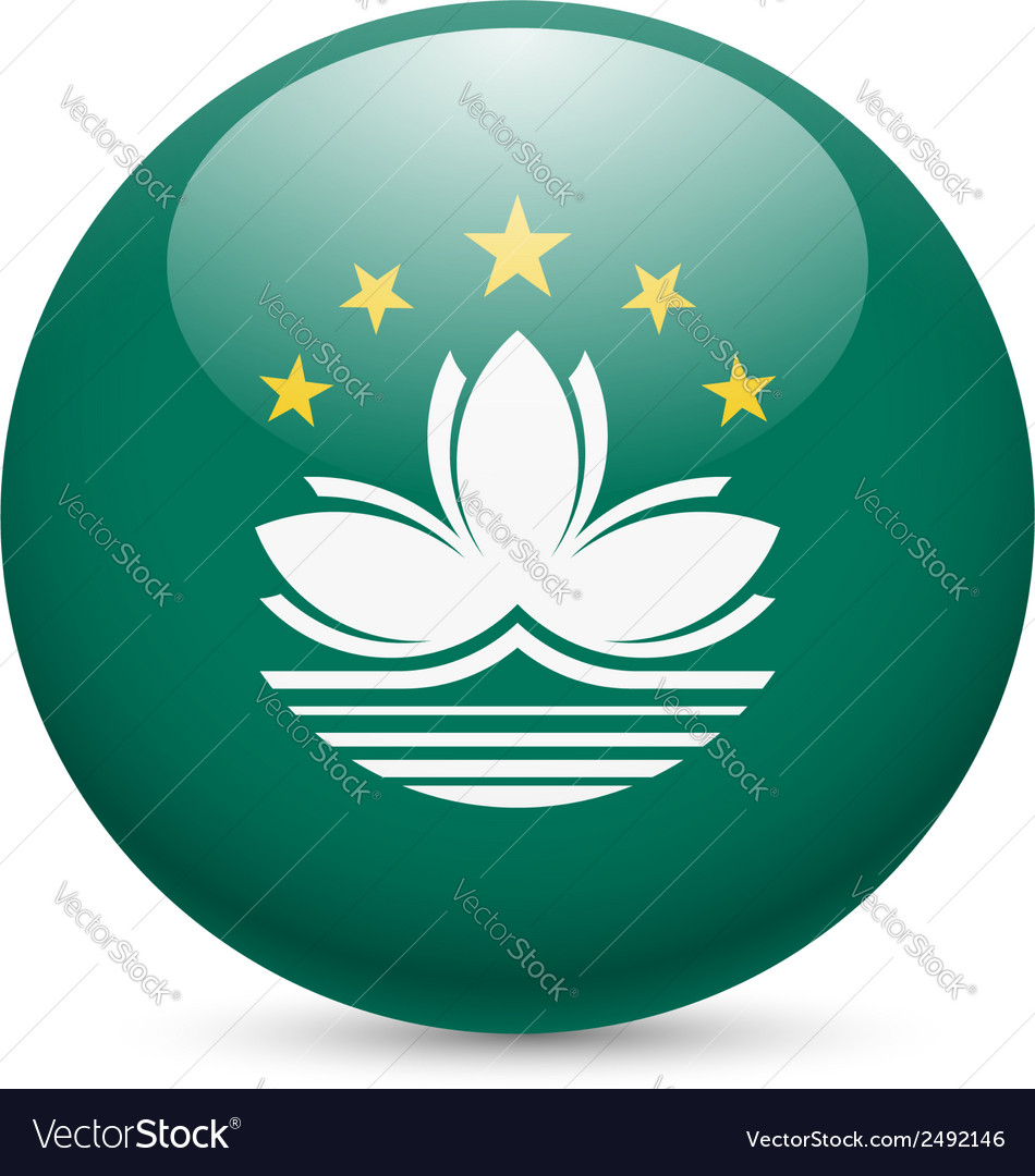 Round glossy icon of macau vector | Price: 1 Credit (USD $1)