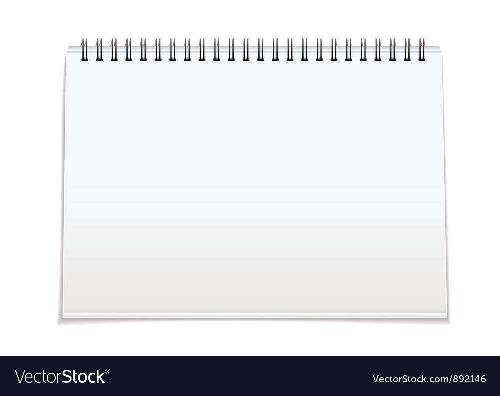 Spiral bound blan pad vector | Price: 1 Credit (USD $1)