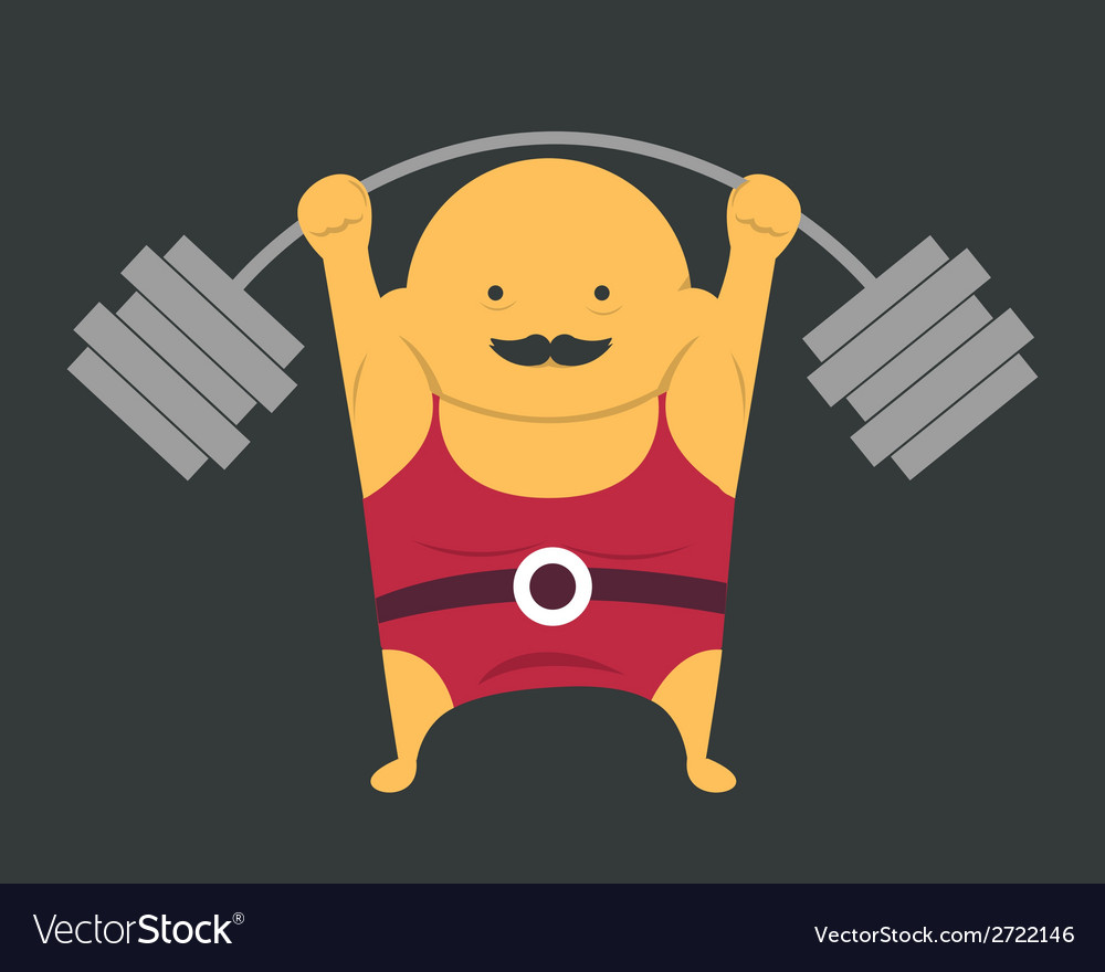 Weightlifter vector | Price: 1 Credit (USD $1)