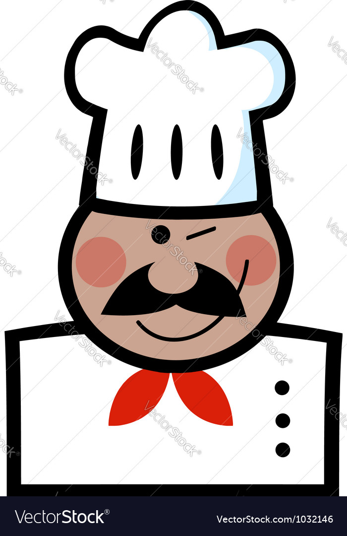 Winking black chef vector | Price: 1 Credit (USD $1)