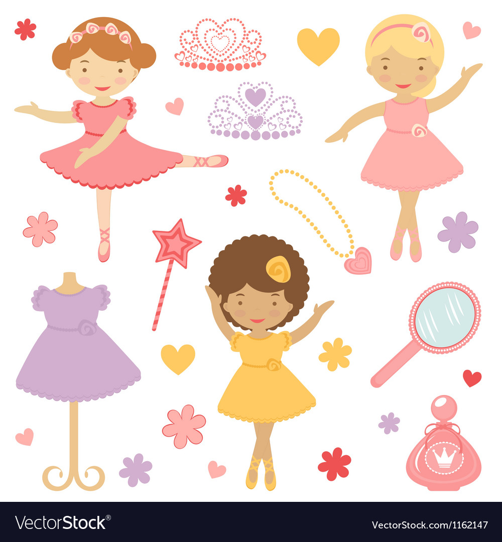 Ballerinas vector | Price: 1 Credit (USD $1)