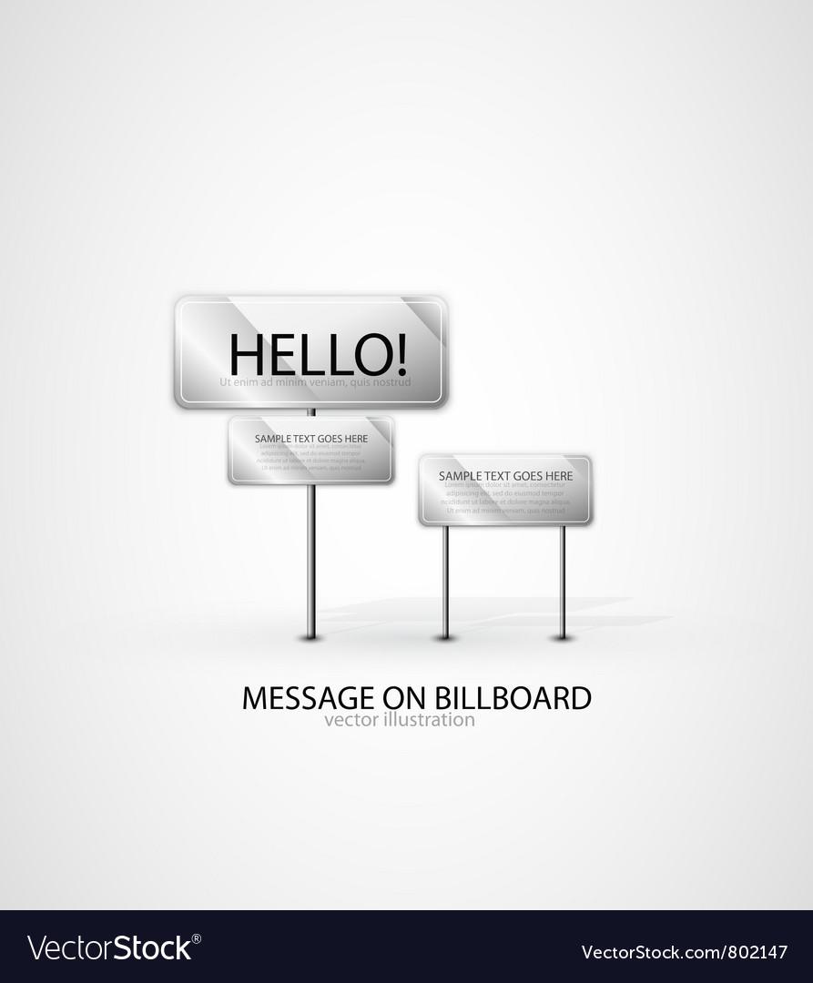 Billboard background vector | Price: 1 Credit (USD $1)