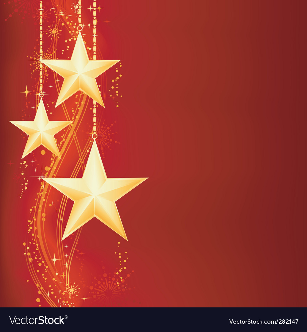 Christmas pattern with stars vector | Price: 1 Credit (USD $1)