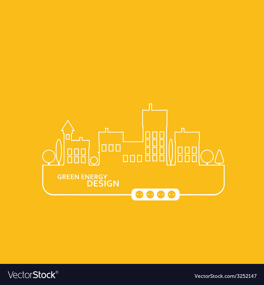 Concept electric circuit city flat design vector | Price: 1 Credit (USD $1)