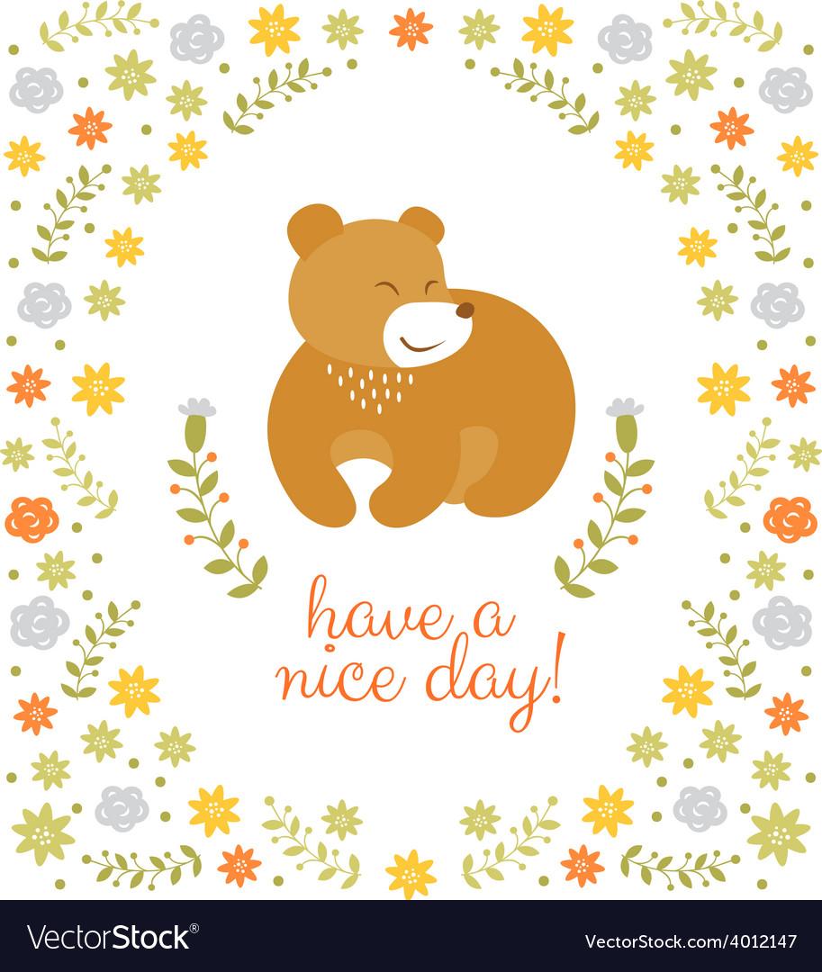 Cute little bear summer vector | Price: 1 Credit (USD $1)