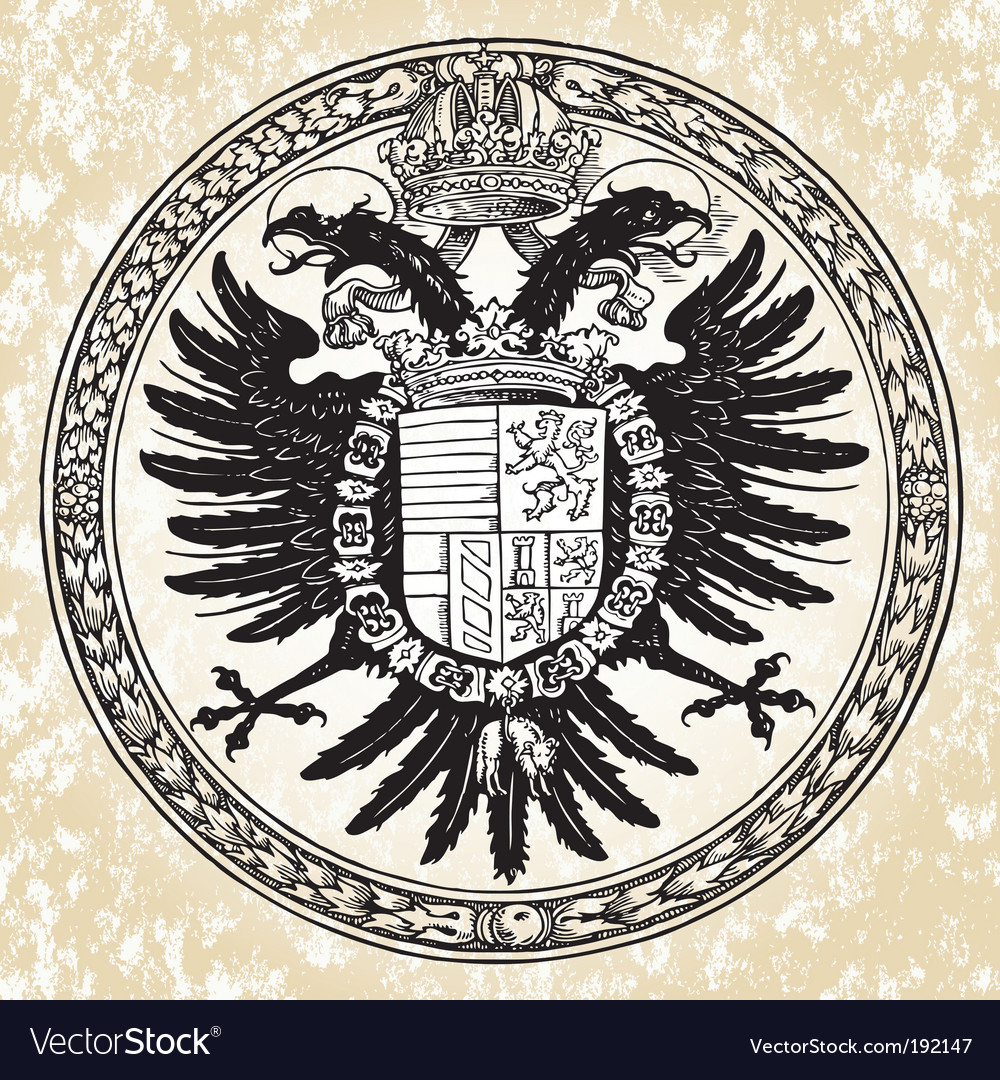 Eagle ornate seal vector | Price: 1 Credit (USD $1)