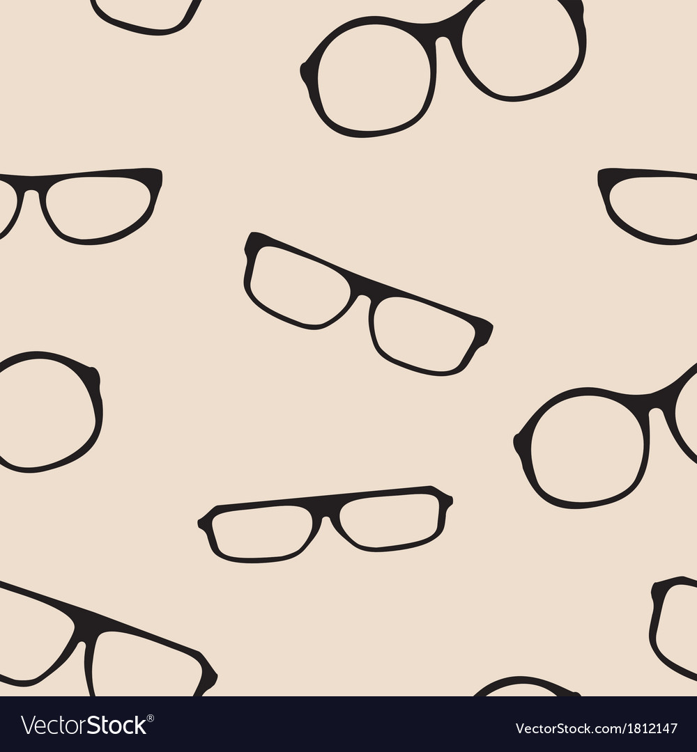 Hipster glasses seamless pattern or background vector | Price: 1 Credit (USD $1)