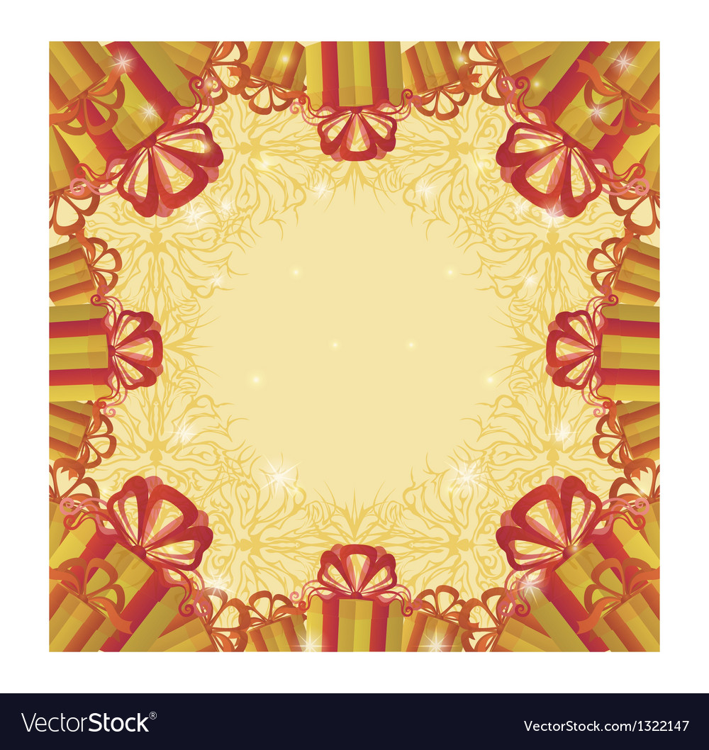 Holiday background with gift boxes vector | Price: 1 Credit (USD $1)