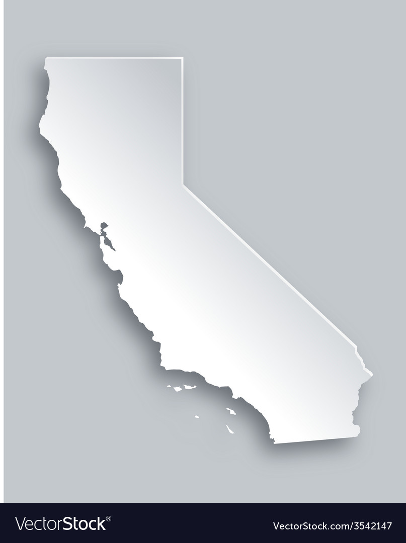 Map of california vector | Price: 1 Credit (USD $1)