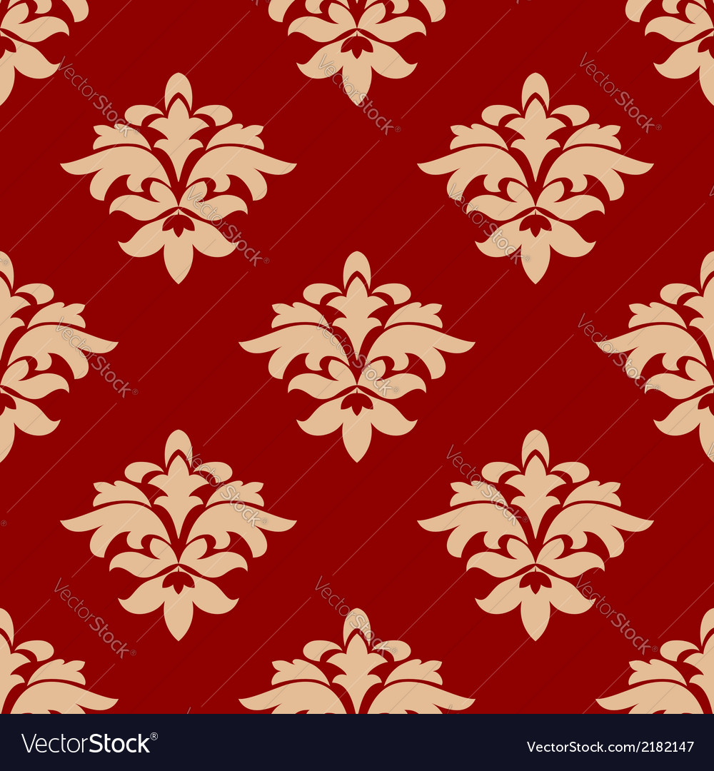Maroon and beige seamless pattern vector | Price: 1 Credit (USD $1)
