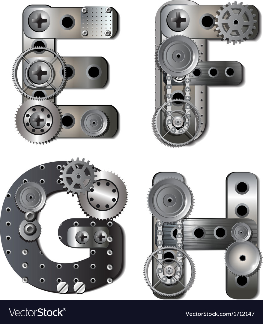 Mechanical alphabet vector | Price: 1 Credit (USD $1)