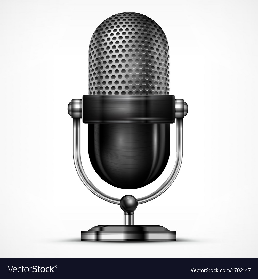 Microphone on white vector | Price: 1 Credit (USD $1)